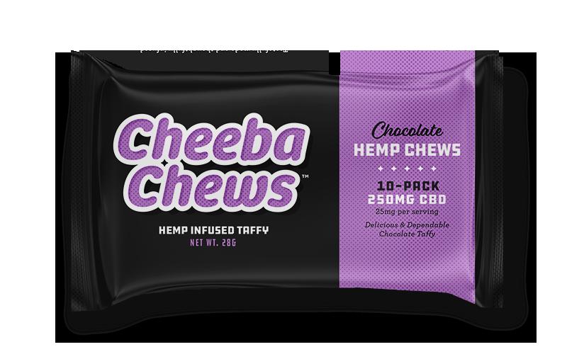 Chocolate Hemp 250mg CBD taffy 10-pack