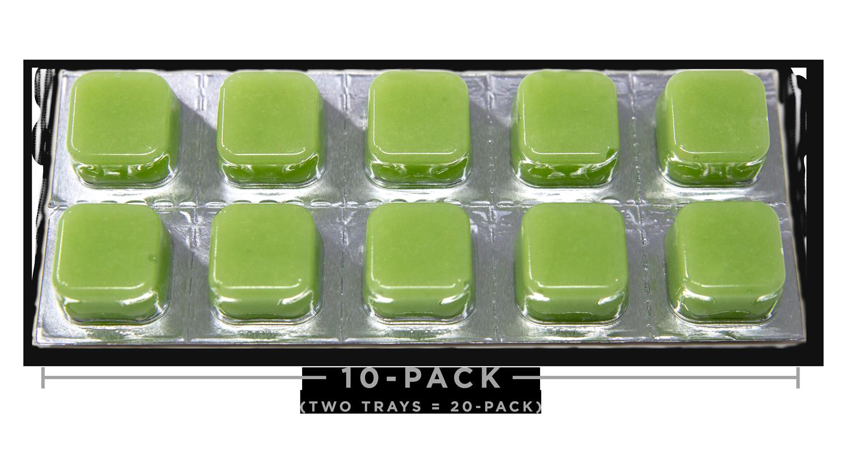 Hemp Oil CBD Edibles - Sour Apple Taffy Cheeba Chews 250mg